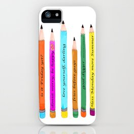 Inspiration, Back To School,  School Supplies, Accessories, Pinales Illustrated iPhone Case