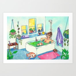 Witchy Relax Art Print