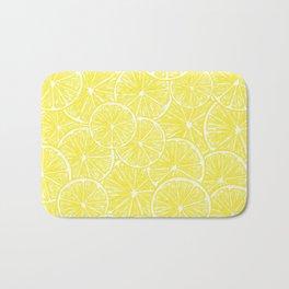 Lemon slices pattern design Bath Mat