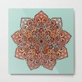 Mandala in Brown Tones Metal Print