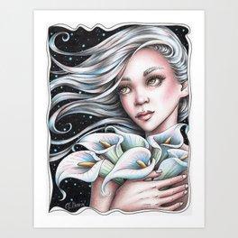 Calla Lily Fairy Art Print