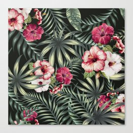 Tropical leave pattern 11.1 Canvas Print