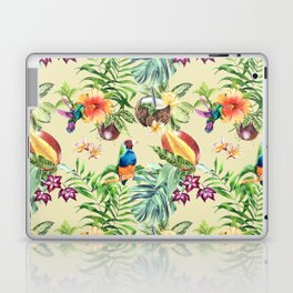 Tropical pattern on a yellow background Laptop & iPad Skin