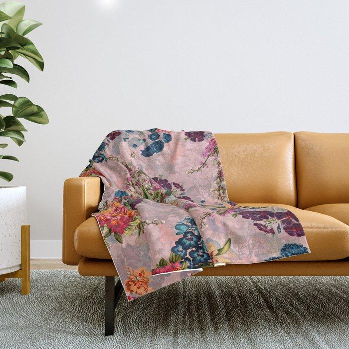 Summer Botanical Garden VIII - II Throw Blanket