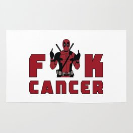 DeadpoolFuck Cancer Rug