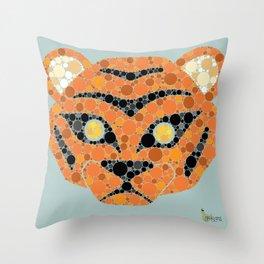 Colourblind Tiger Throw Pillow