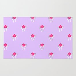 Holy orchid pattern Rug