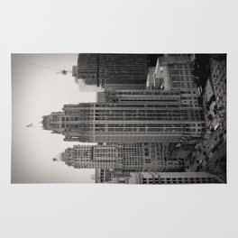 Chicago Tribune Tower Building Black and White Photo Rug