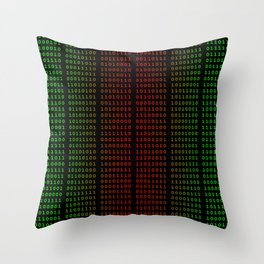 Binary Green and Red With Spaces Throw Pillow