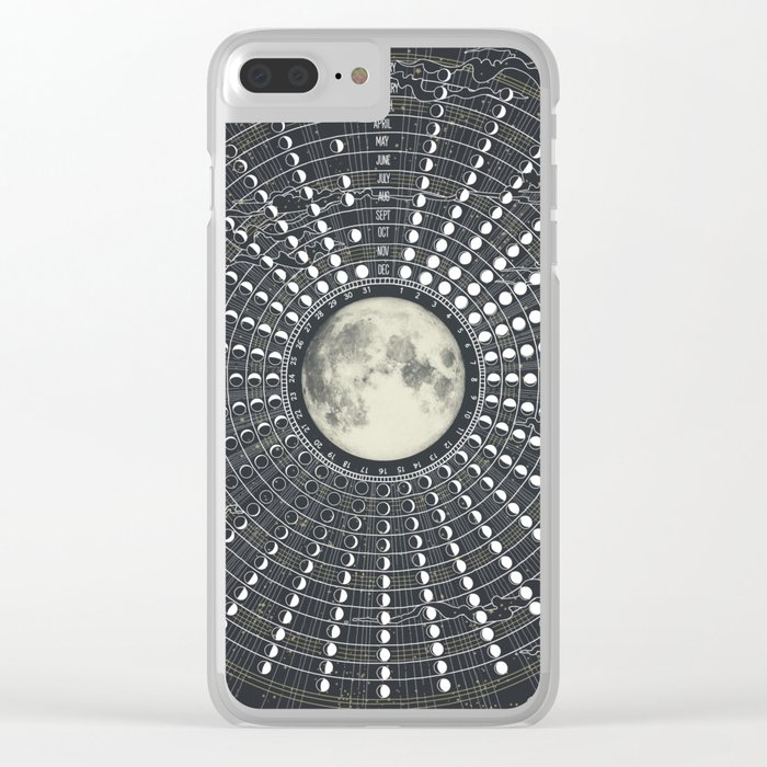 Phases // Moon Calendar 2017 Clear iPhone Case