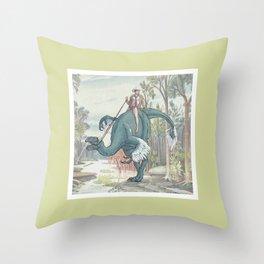 Castiel Pinup on a Dinosaur Throw Pillow