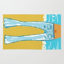 Sexy Blue Jeans Rug