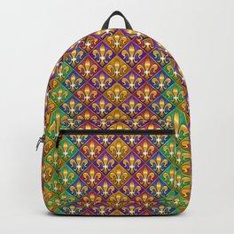 Harlequin Fleur di Lis Diamonds Backpack