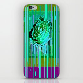 Green-Purple Fantasy Green Rose Abstract iPhone Skin