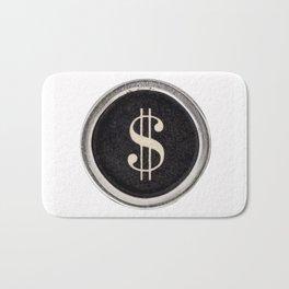Vintage Dollar Sign Bath Mat