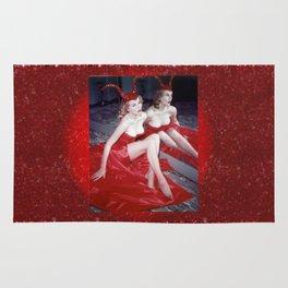 Femme Fatale - Anita Red Devil Glitter Rug