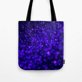 Christmas Blue Purple Night Snowflakes Tote Bag