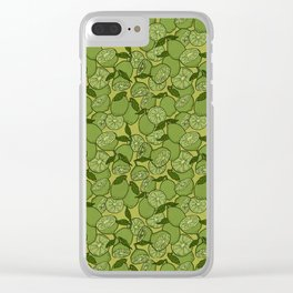 Lime Greenery Clear iPhone Case