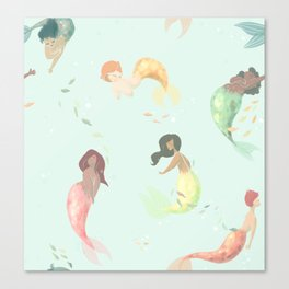 going swimmingly Canvas Print