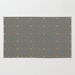 Going round and round - Orange/Taupe/Teal Rug