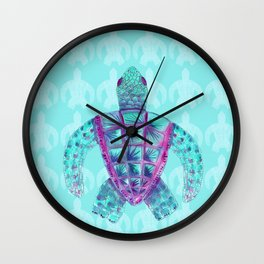 Tomas in Aqua Wall Clock