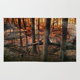 Sky Fire - surreal landscape photography Rug