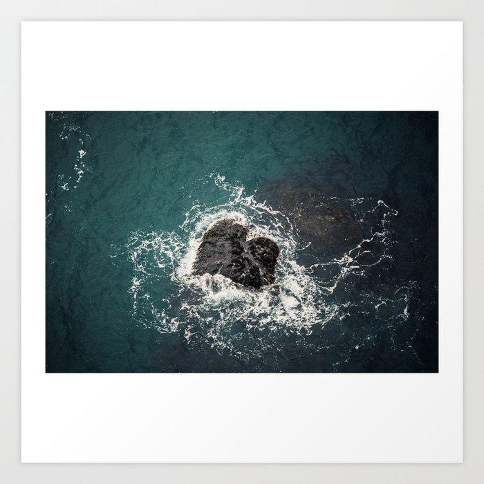 ocean loves you Art Print