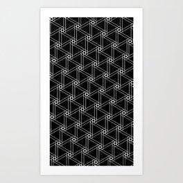 Hexa-lines Art Print