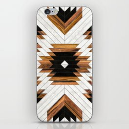 Urban Tribal Pattern 5 - Aztec - Concrete and Wood iPhone Skin