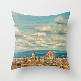 Duomo in Florence Skyline Throw Pillow