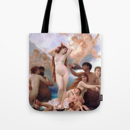 The Birth of Venus by William Adolphe Bouguereau Tote Bag