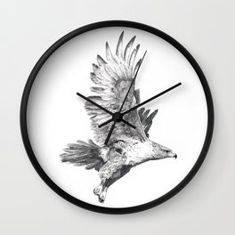Red Tailed Hawk in Flight #2 Wall Clock