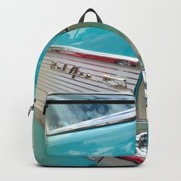Classic Car Turquoise Backpack