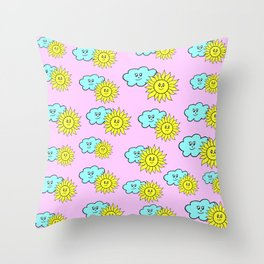 Cute baby design in pink Throw Pillow