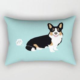 Corgi funny fart dog pure breed gifts dog lovers tricolored corgis Rectangular Pillow