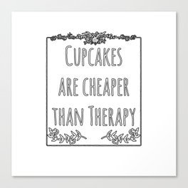 Cupcake Therapy Muffin Sprinkles Topping Sweet Cake Canvas Print