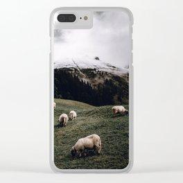 Sheep II / Bavarian Alps Clear iPhone Case