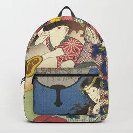 Draw of the Hare - Japanese Art Backpack