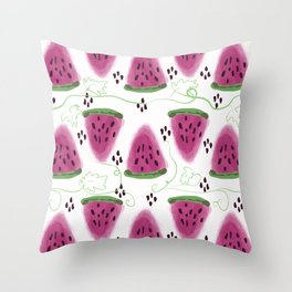 Watermelon pattern. Throw Pillow
