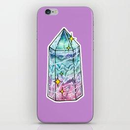Fluorite Crystal Point iPhone Skin