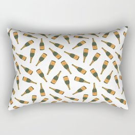 Champagne Bottle Pattern Rectangular Pillow