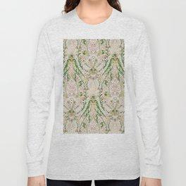 Green Pink Leaf Flower Paisley Long Sleeve T-shirt