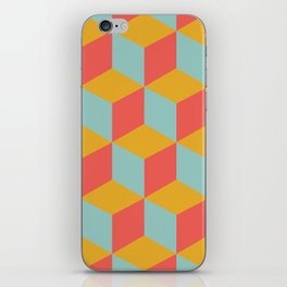 Cube pattern retro Orange #homedecor iPhone Skin