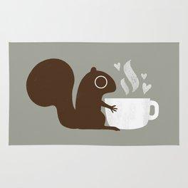 Squirrel Coffee Lover Rug