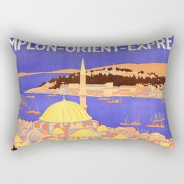 Vintage Simplon Orient Express London Constantinople Rectangular Pillow