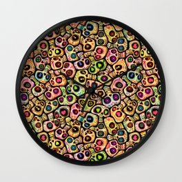Calaveras del Día de los Muertos. Wall Clock
