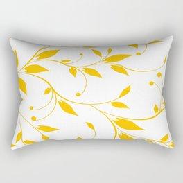 FLOWERY VINES | white yellow Rectangular Pillow