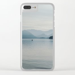 Mysterious Lake. Clear iPhone Case