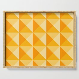 Geometric Prism in Sunshine Yellow Serving Tray