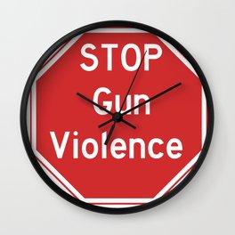 Stop Gun Violence Gun Control Shirt Wall Clock